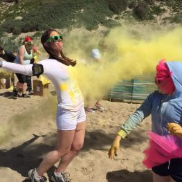 5k Bubble Rush for local hospice