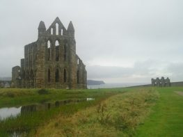 Sea mist at Whitby Abbey